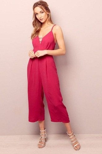 Wide-Short Legged Party Jumpsuit