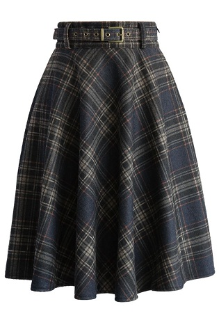 Wool Skirts in Plaids