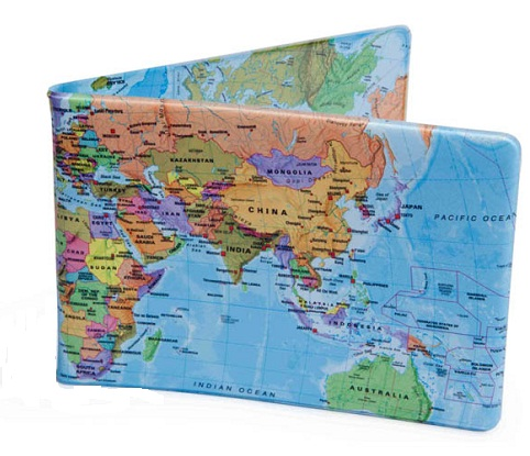 World Map Crafted Wallet