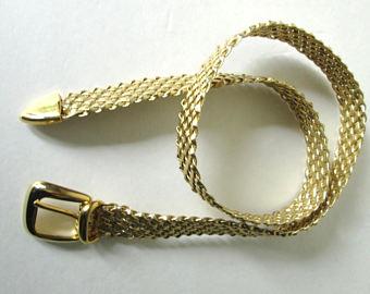 Woven Gold Belt design for Men