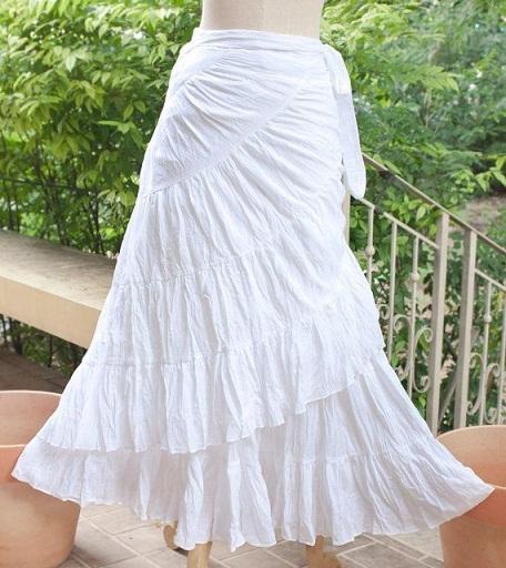 Wrap Broomstick Skirt