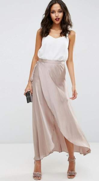 Wrap Satin skirt