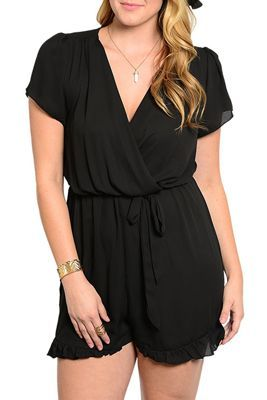 Wrap Short Romper Jumpsuit