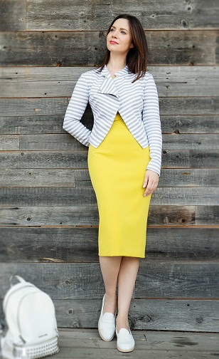 Yellow Pegged Skirt