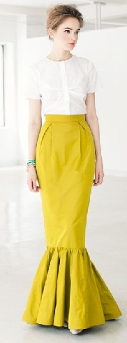 Yellow Trumpet Skirts