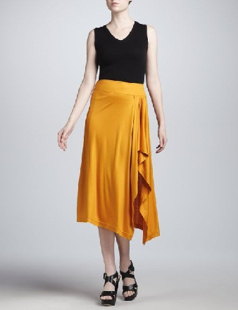 Yellow sarong skirt