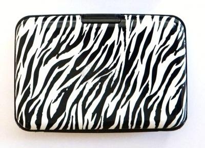 Zebra Design Aluminium Wallet
