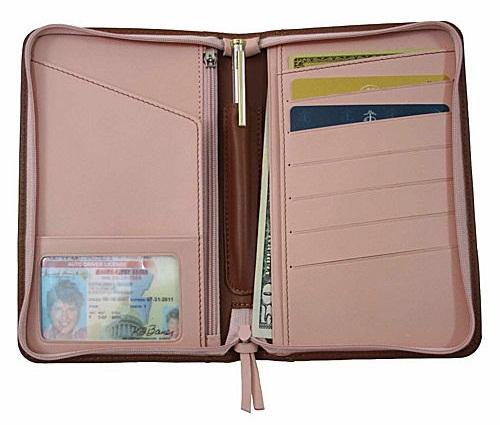 Zipped Passport Wallet
