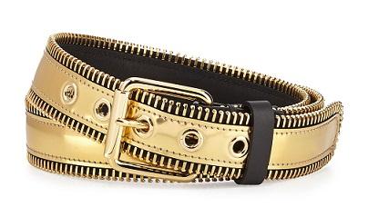 Zipper Gold Belt for Men