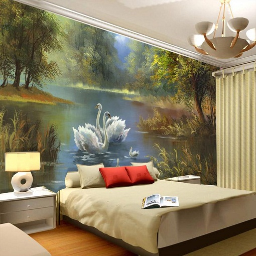 Toddler Bedroom Wall Art Simple Bedroom Curtain Ideas Images Of Bedroom Design Creative Bedroom Wall Decor Ideas: 15 Latest Bedroom Wall Designs With Photos In 2019