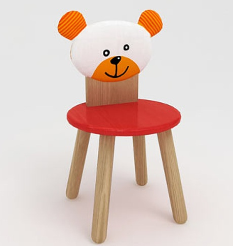 3D Model Chair for Kids