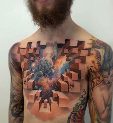 3D cosmic Tattoo Designs