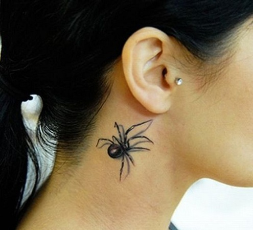 Top 15 Cute and Tiny Ear Tattoos With Images - 3d Effect on Ear Back Tattoo
