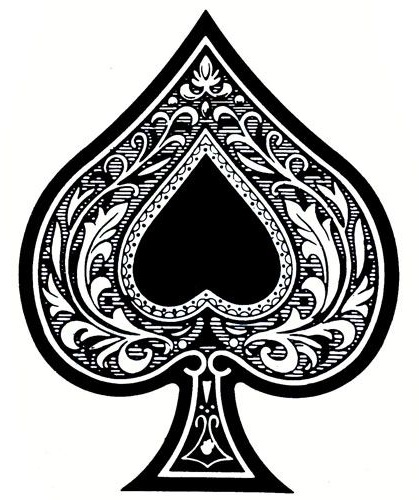 Aces Spade Card Tattoo with Floral Design