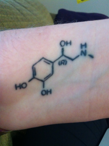 Adrenaline Chemical Link Tattoo Design