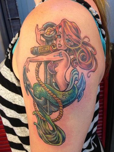 Alluring Anchor Badass Tattoos Design