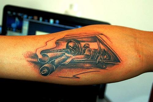 Amazing Gangster Tattoo Design