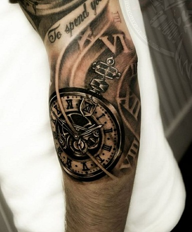 Amusing Biomechanical Tattoo Design