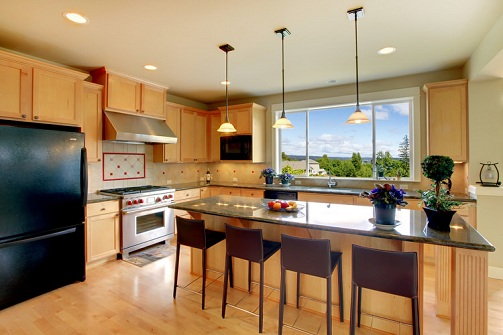 An Open Kitchen Design with Natural View