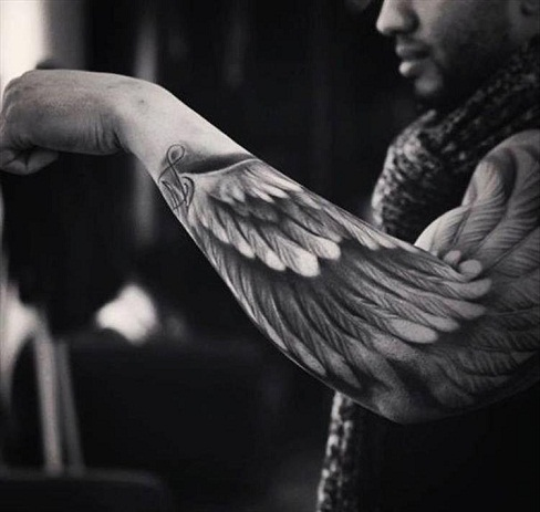 Angel wings Tattoo Design for Black People