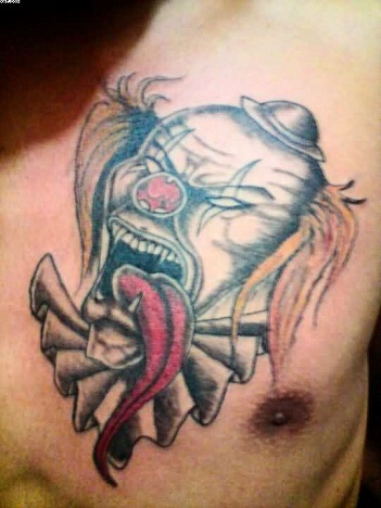 Angry Clown tattoo design