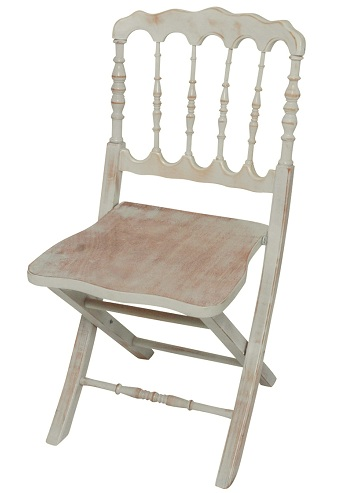 Antique Ivory Folding Chairs: