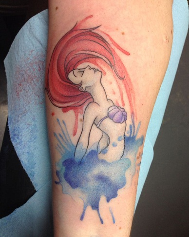 Ariel Character Disney Tattoo