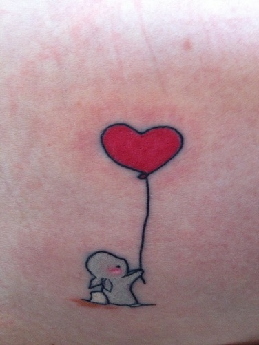 Attractive Balloon Tattoo Design