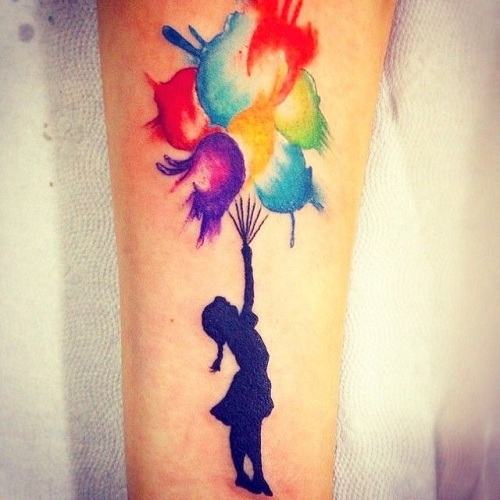 Awesome Balloon Tattoo Designs