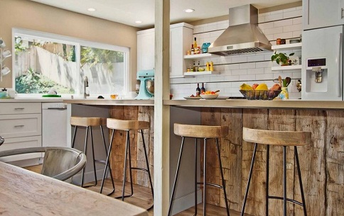 Bar stool designed kitchen