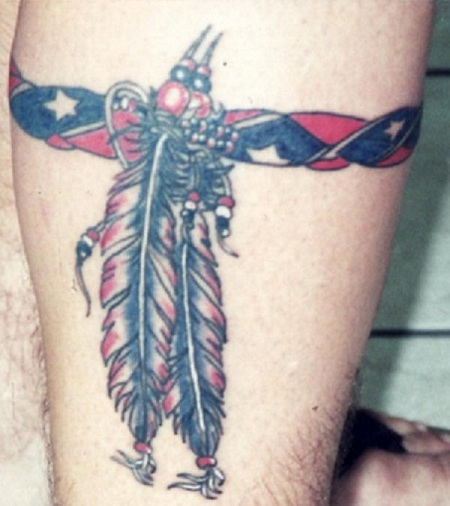 Beauteous Rebel Flag Tattoo Design