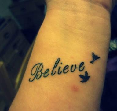 Believe Texture Dream Tattoo