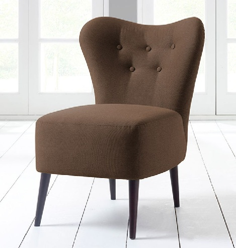 Brown Fabric Bedroom Chairs