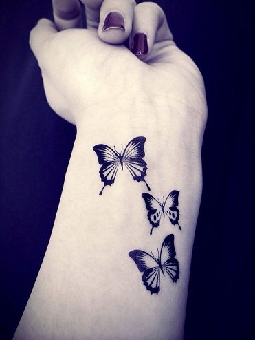 Butterfly Style Black Tattoo Design
