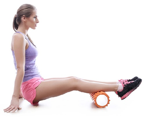 Calf Stretching with Foam Roller-01