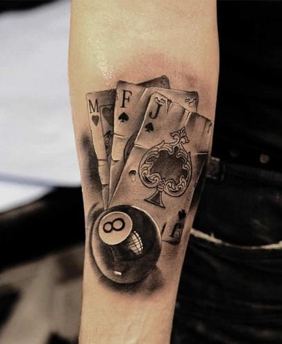 9 Stylish And Amazing Eight Ball Tattoo Designs