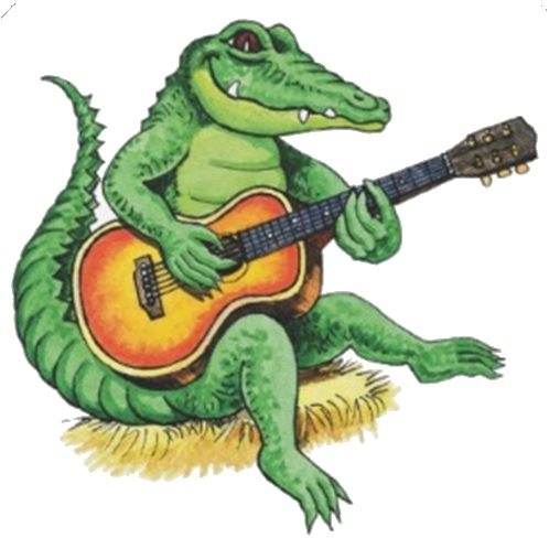 Cartoon Alligator Tattoo Design