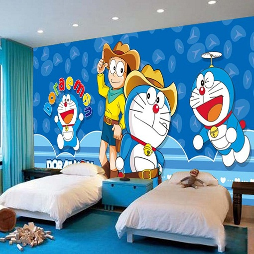 Cartoon Painted Wall Design