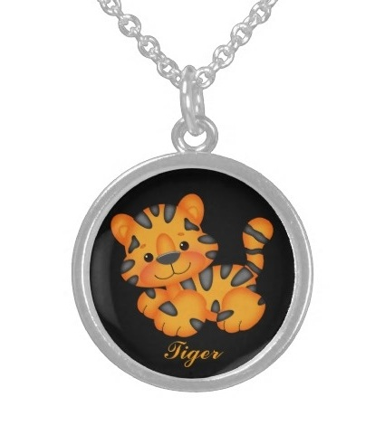 Cartoon Tiger Children's Lockets