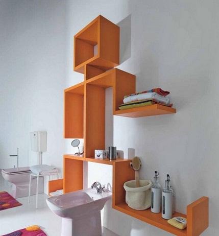 Casual pattern creative décor for bathroom