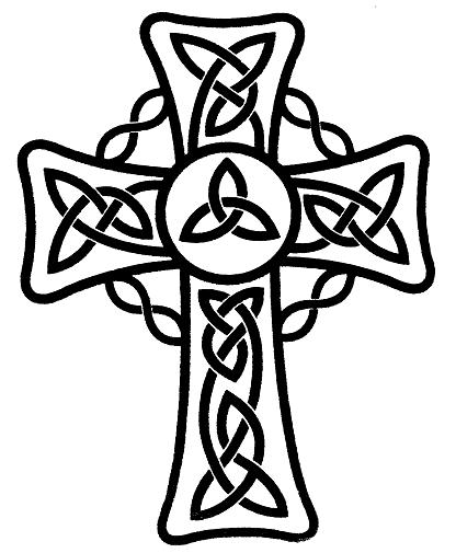 Celtic Tribal cross tattoo design