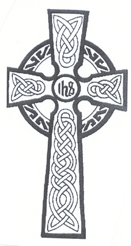 Celtic tribal cross tattoo design