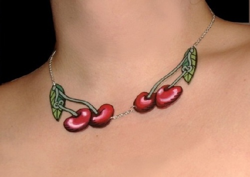 Cherry Necklace Tattoo