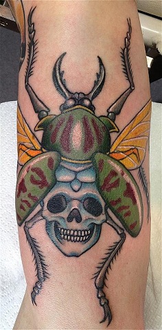 9 beautiful beetle tattoo designs styles at life. Black Bedroom Furniture Sets. Home Design Ideas