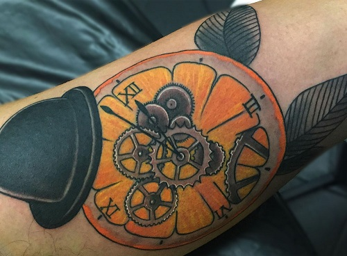 9 awesome orange tattoo designs styles at life for Clockwork orange tattoo