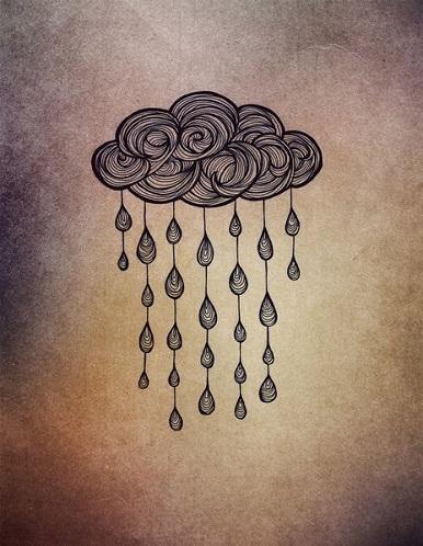 Cloud Line Work Tattoo