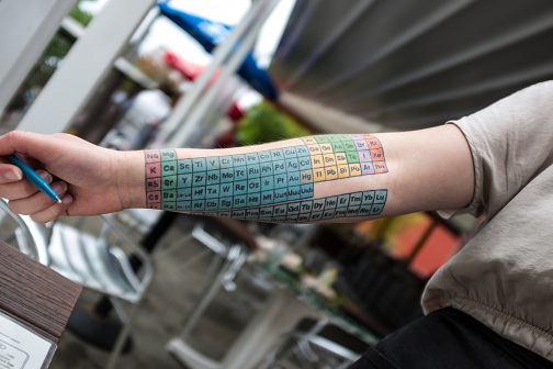 Colorful Complete Periodic Table Tattoo