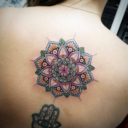 Colorful Style of Mandala Tattoo Designs