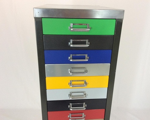 Colourful Filing Cabinets