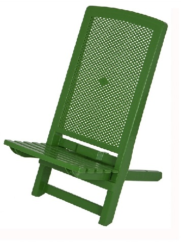 Compact Plastic Deck Chair